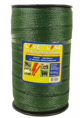Live Line Green 40mm Wide Electric Fence Tape