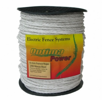 OPTIMA Power Rope - White - Premium, UV Stabalized Rope - with 5 year guarantee