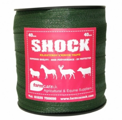 Shock Green 40mm Wide Electric Fence Tape