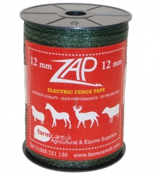 Shock Green 12mm Electric Fence Tape