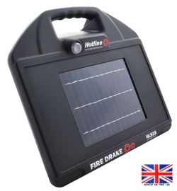 Hotline FireDrake 18 Solar Electric Fence Energiser - make life easy - up to 1.5km