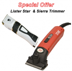 Lister Star Horse Clipper in Red and Sierra Trimmer DEAL