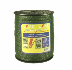 Live Line Green 20mm Electric Fence Tape
