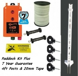 Paddock Plus Kit 4ft Posts - 7 Year Warranty