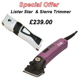 Lister Star Horse Clipper in Purple and Sierra Trimmer DEAL