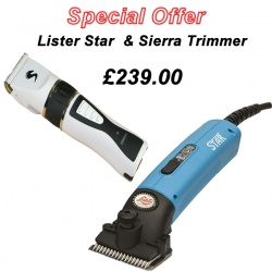 Lister Star Horse Clipper in Blue and Sierra Trimmer DEAL