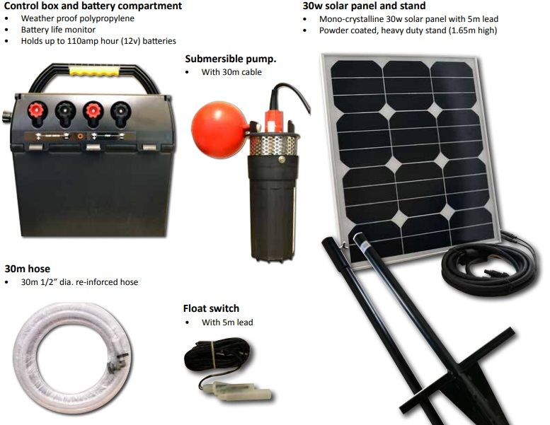 Solar Powered Livestock Water Pump