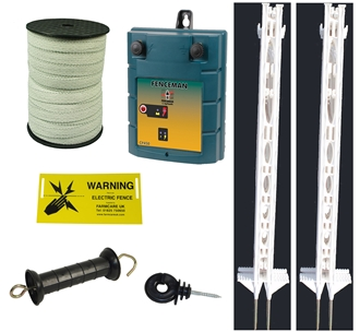 12v Plus Starter Kit Tall 4ft Posts - 2 power settings - for challenging animals