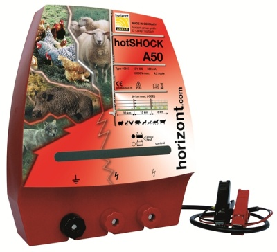 Hotshock A50 - High Voltage - up to 30km - great for sheep and predators