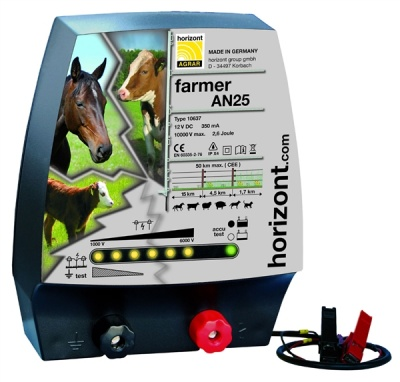 Farmer AN25 Energiser - up to 15km - load sensing circuitry