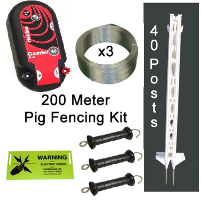 Pig Electric Fence Kit - 200 Metres