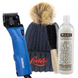 Lister Legend Horse Clipper & Cattle Clipper with FREE Lister Hat, Wahl Oatmeal Shampoo and Wahl Brush