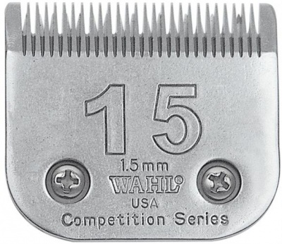 Wahl #15 Competition Blade - clips to 1.5mm - fits Libretto, Harmony and Saphir trimmers