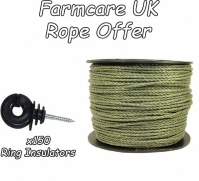 400m Green Rope & Rings Xvalue Kit