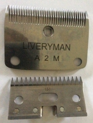 A2 Lister Fit Blades with Metal Yoke - made by Liveryman