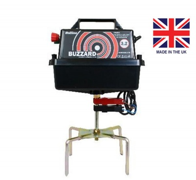 Buzzard 12v Energiser - high power - up to 25km of fencing with 5 year warranty