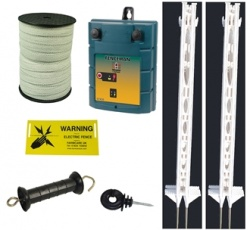 12v Plus Starter Kit 3ft posts - 2 power settings - for challenging animals