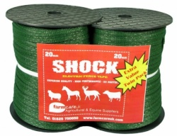 Green 20mm Electric Fence Tape Twin Pack Deal