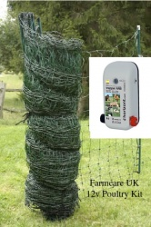 12v Poultry Net Kit Large - a huge 100m enclosure