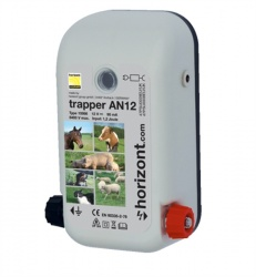 Trapper AN12 Dual Power Energiser - up to 8Km + Free 50cm Earth Stake