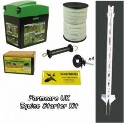Equine 9V Starter Kit 3ft posts - easy to set-up - green or white