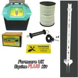 9 Volt Equine PLUS Starter Kit 3ft posts - for challenging animals