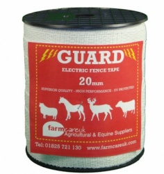 GUARD 20mm WHITE TAPE