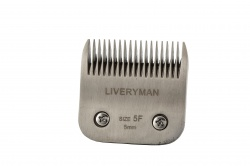 Liveryman 5F Narrow Blade - clips to 5mm - ideal trimmer blade to blend with Lister Covercote blade