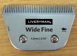 Liveryman Wide Fine Blade - clips to 1.5mm - for Harmony Plus, Libretto, Saphir and all A5 style snap on trimmers
