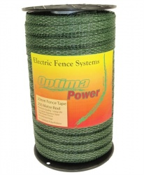 OPTIMA  POWER 20mm GREEN Electric Fence Tape - 5 yr warranty