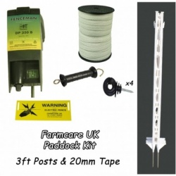 Paddock Kit - creates 100m double line electric fence