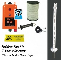 Paddock Plus Kit, 3Ft Posts, 12 Volt  - 7 year warranty