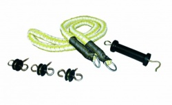 Rope gate handle set
