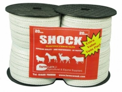 SHOCK White 20mm Electric Fence Tape Twin Pack Deal