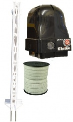 Shrike Electric Fence Narrow Tape Kit - everything you need to get you started