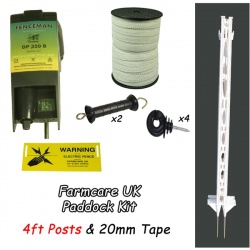 Paddock Kit Tall Posts - creates 100m double line electric fence